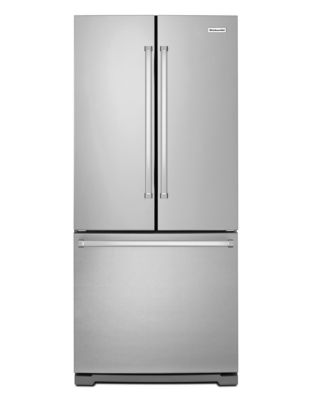 20 Cu. Ft. 30-Inch Width Standard Depth French Door Refrigerator with Interior Dispense - Stainless photo