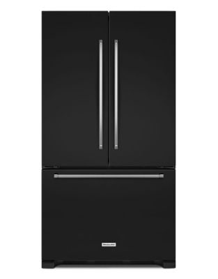KRFC300EBL 36-Inch Wide 20 cu. ft. Counter-Depth French Door Refrigerator - Black photo