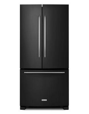 KRFF302EBL 33-Inch Wide 22 cu. ft. Standard Depth French Door Refrigerator - Black photo