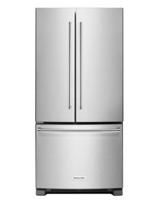 KRFF302ESS 22 Cu. Ft. 33-Inch Width Standard Depth French Door Refrigerator with Interior Dispense - Stainless photo