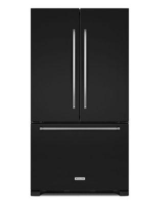 KRFF305EBL 36-Inch Wide 25 cu. ft. Standard Depth French Door Refrigerator - Black photo