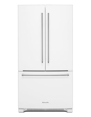 KRFF305EWH 36-Inch Wide 25 cu. ft. Standard Depth French Door Refrigerator - White photo