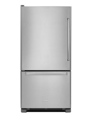 KRBL102ESS 33-Inch Wide 22 cu. ft. Full Depth Bottom Mount Refrigerator - Stainless Steel photo