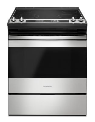 YAES6603SFS - 30-inch Electric Range with Front Console Black on Stainless photo