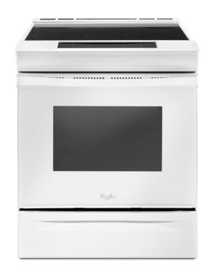 YWEE510S0FW - 4.8 cu. ft. Electric Front Control Range with ceramic glass cooktop - White photo