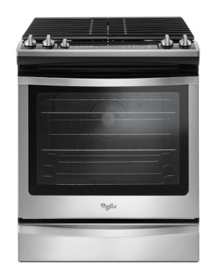 WEG745H0FS - 5.8 Cu. Ft. Front Control Gas Range with EZ-2-Lift hinged grates - Stainless Steel photo