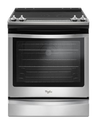 YWEE745H0FS - 6.4 Cu. Ft. Front Control Electric Range with True Convection - Stainless Steel photo