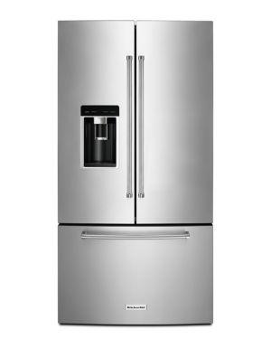 Sensational Kitchenaid Krfc604Fss 36 Counter Depth French Door Refrigerator Stainless Steel Beutiful Home Inspiration Ommitmahrainfo