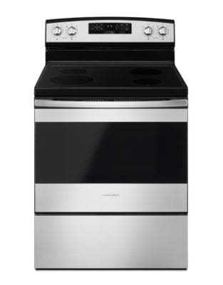 YAER6603SFS - 30-inch Electric Range with Self-Clean Option Black-on-Stainless photo