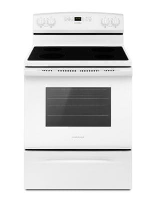 YAER6303MFW - 30-inch Electric Range with Extra-Large Oven Window White photo