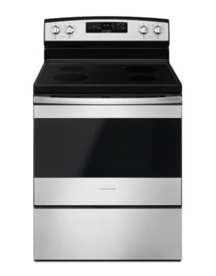 YAER6303MFS - 30-inch Electric Range with Extra-Large Oven Window Black-on-Stainless photo