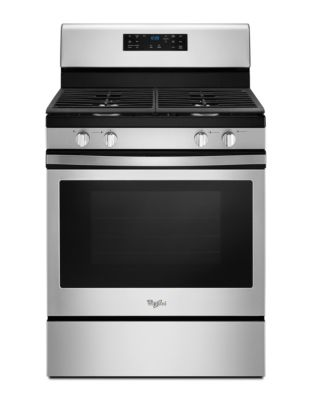 WFG520S0FS - 5.0 cu. ft. Freestanding Gas Range with Fan Convection Cooking - Black on Stainless photo