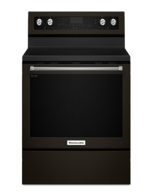 YKFEG500EBS 30-Inch 5-Element Electric Convection Range - Black Stainless photo