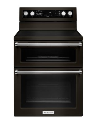 YKFED500EBS 30-Inch 5 elements Electric Double Oven Convection Range - Black Stainless photo