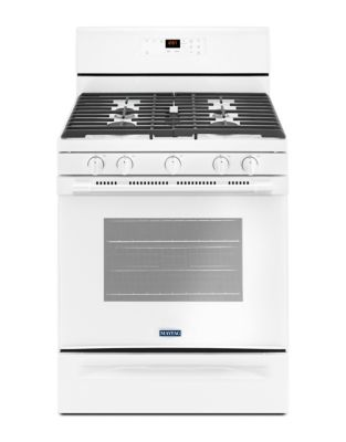 MGR6600FW - 30-INCH GAS RANGE WITH 5TH OVAL BURNER - 5.0 CU. FT. White photo