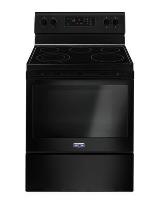 YMER6600FB - Cuisinière Électrique avec Surface Résistante aux Fissures et Ébréchures - Noir photo