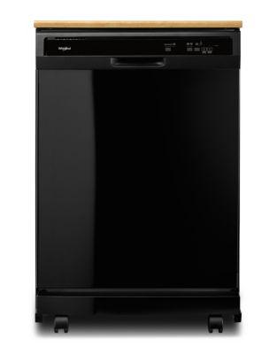 WDP370PAHB Portable Heavy-Duty Dishwasher with 1-Hour Wash Cycle Black photo