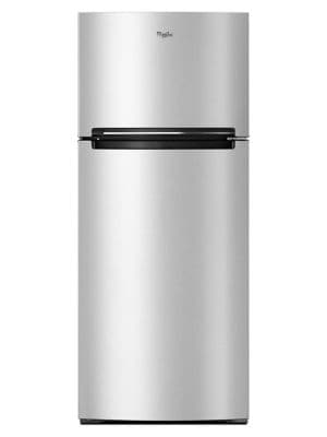 WRT518SZFG - 18 cu.f t. Top Freezer Refrigerator Compatible With The EZ Connect Icemaker Kit - Fingerprint Resistant Metallic Steel Finish photo