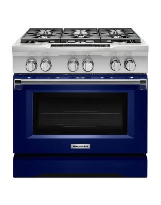 KDRS467VBU 36 Commercial-Style 6-Burner Dual Fuel Freestanding Range Cobalt Blue photo