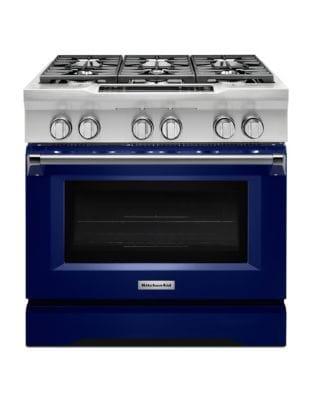 KDRS467VBU 36 Commercial-Style 6-Burner Dual Fuel Freestanding Range Cobalt Blue photo