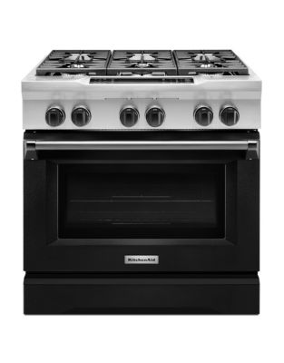 KDRS467VBK - 36-Inch 6-Burner Dual Fuel Freestanding Range Imperial Black photo