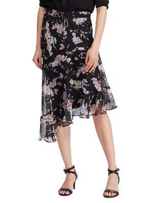 Kensie Womens Black Velvet Asymmetrical Hem Pleated Skirt M Skirts Women's Clothing
