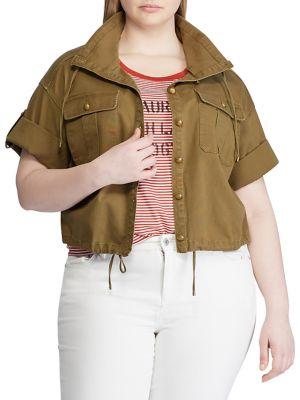 47908b449b QUICK VIEW. Lauren Ralph Lauren. Plus Short-Sleeve Surplus Canvas Jacket