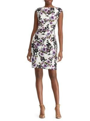 2f0531adfd0 QUICK VIEW. Chaps. Floral Jersey Sheath Dress