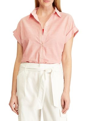 fdc182a59f1 Relaxed-Fit Linen Button-Down Shirt. Lauren Ralph Lauren