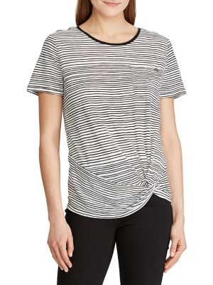 7907cce13 QUICK VIEW. Lauren Ralph Lauren. Twisted Striped T-Shirt