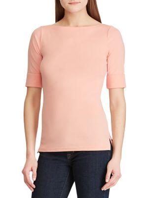 5dc5f5a82b893 QUICK VIEW. Lauren Ralph Lauren. Cotton Boatneck T-Shirt