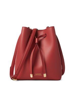 2e42719e58 QUICK VIEW. Lauren Ralph Lauren. Mini Leather Drawstring Bag