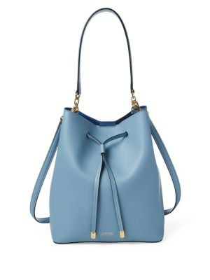 cad332ba33 Product image. QUICK VIEW. Lauren Ralph Lauren. Leather Drawstring Bag