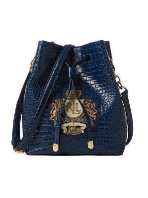 98df74c74508 QUICK VIEW. Lauren Ralph Lauren. Mini Crest Leather Bucket Bag