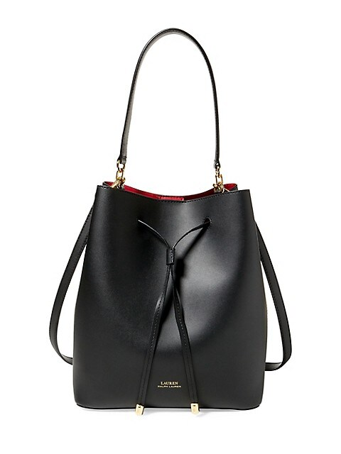 Medium Debby Leather Drawstring Bag
