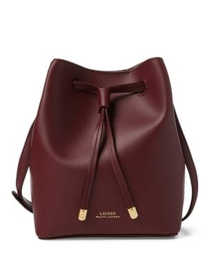 Product image. QUICK VIEW. Lauren Ralph Lauren. Mini Leather Drawstring  Bucket Bag c767c1d0bce69