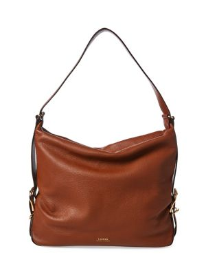 6e657e5ff127 Product image. QUICK VIEW. Lauren Ralph Lauren. Leather Hobo Bag