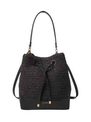 a1fc827fd03a Product image. QUICK VIEW. Lauren Ralph Lauren. Debby Straw Drawstring Bag.   238.00 · Textured Leather Satchel BLACK