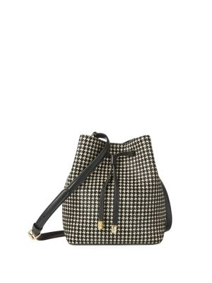 c26651c82365 Product image. QUICK VIEW. Lauren Ralph Lauren. Mini Houndstooth Bucket Bag