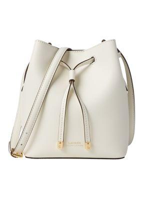 67fa18c35c4d QUICK VIEW. Lauren Ralph Lauren. Mini Leather Drawstring Bag