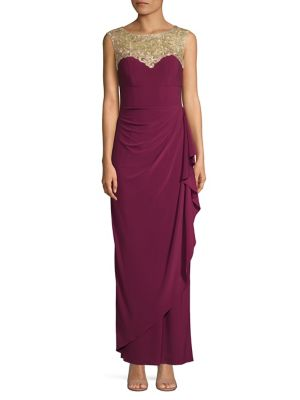 Product image. QUICK VIEW. Alex Evenings. Collar Embellished Sleeveless Gown 1f15e606ce41