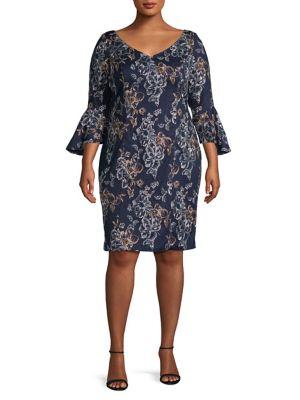 Alex Evenings Women Womens Clothing Plus Size Dresses