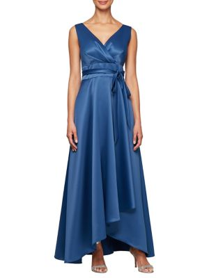 bc98713c6f7 QUICK VIEW. Alex Evenings. Tie-Waist Satin Ball Gown