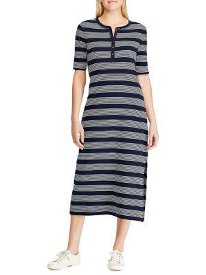 4bb8524ea79d Striped Cotton Shift Dress NAVY. QUICK VIEW. Product image