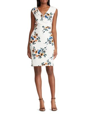 54aa2915a866 QUICK VIEW. Lauren Ralph Lauren. Floral Ruched Sheath Dress
