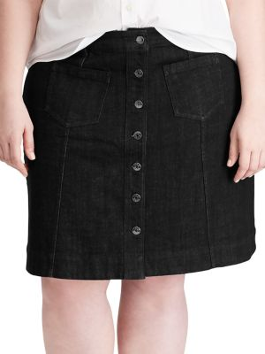 2daf9999cc Product image. QUICK VIEW. Chaps. Plus Stretch Denim Skirt