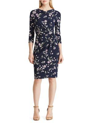 29497180 Product image. QUICK VIEW. Lauren Ralph Lauren. Jersey Cowlneck Sheath Dress