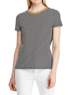 7a364b59 Product image. QUICK VIEW. Lauren Ralph Lauren. Spiral Striped Cotton Tee.  $85.00 · Plaid Button-Down Shirt BLACK