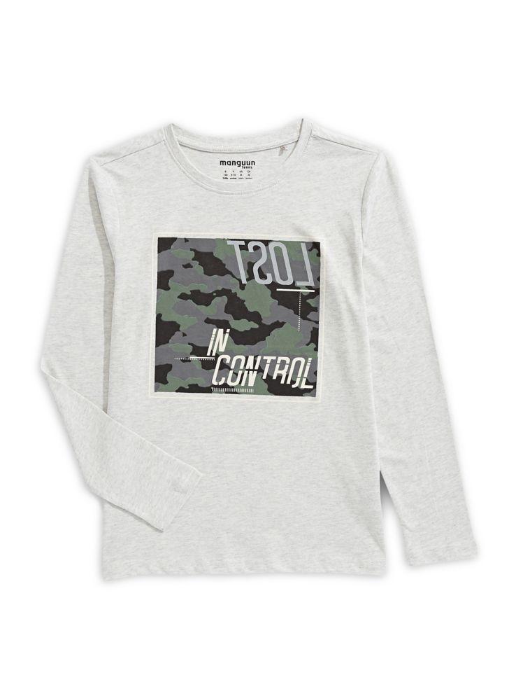 7d75548bb966 Manguun - T-shirt en coton à manches longues pour garçon - labaie.com