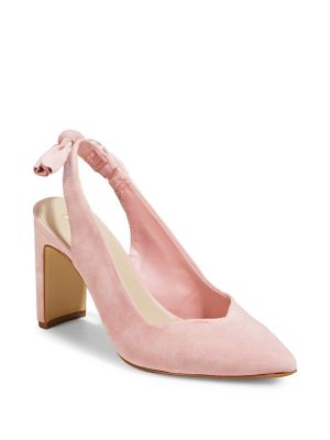 7db2252d063 QUICK VIEW. Lord   Taylor. Point-Toe Suede Slingback Pumps